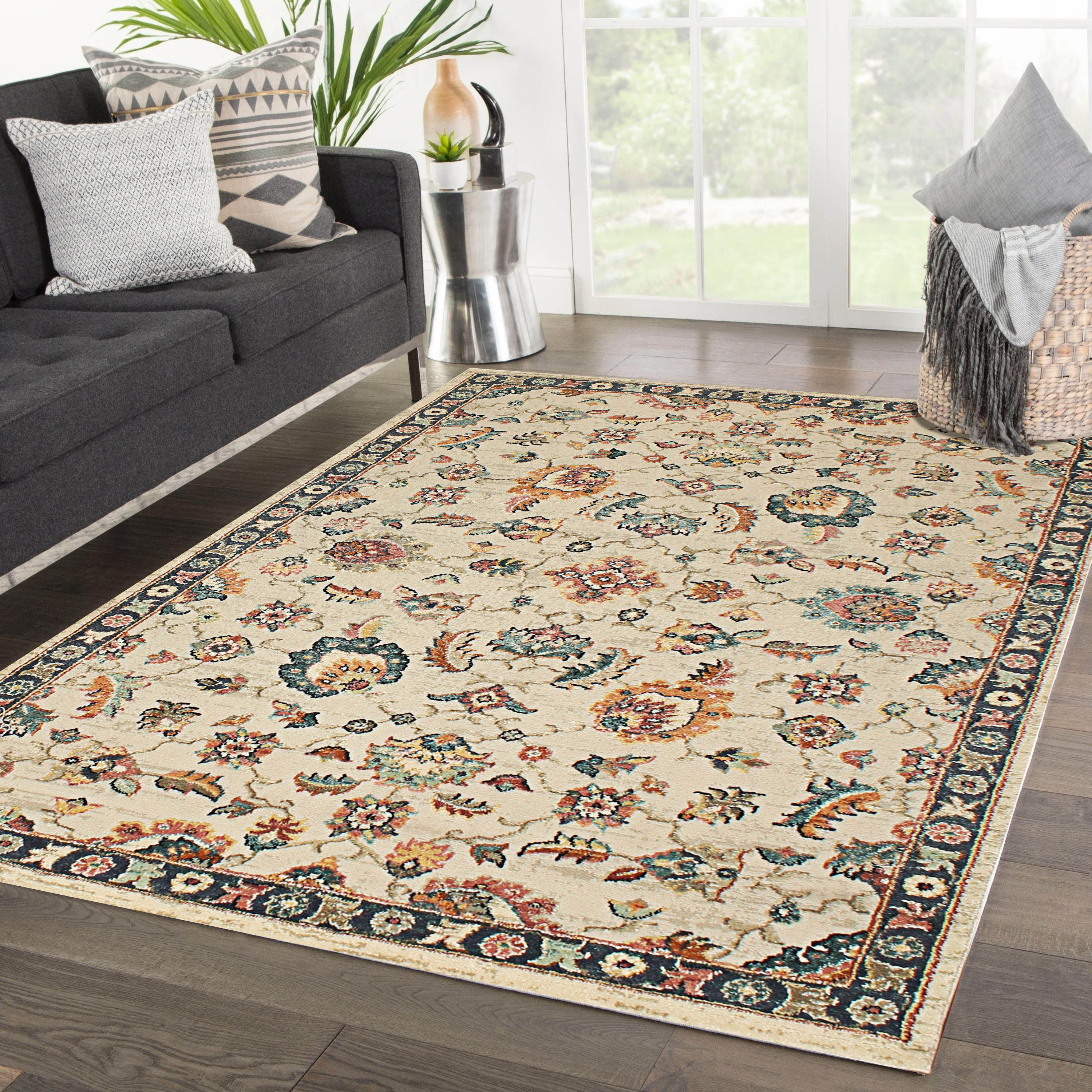 Rugsville Leigha Floral Ivory Persian